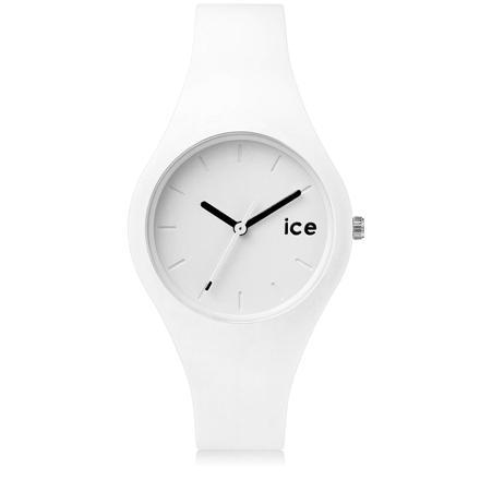 montre blanche ice watch