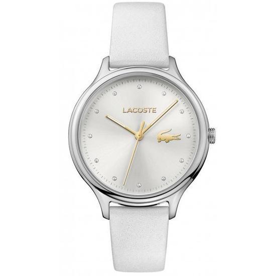 montre cuir blanc