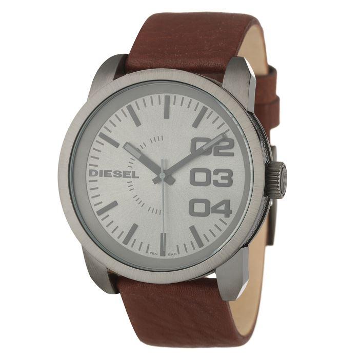 montre diesel bracelet marron