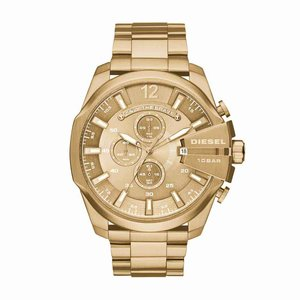 montre diesel couleur or