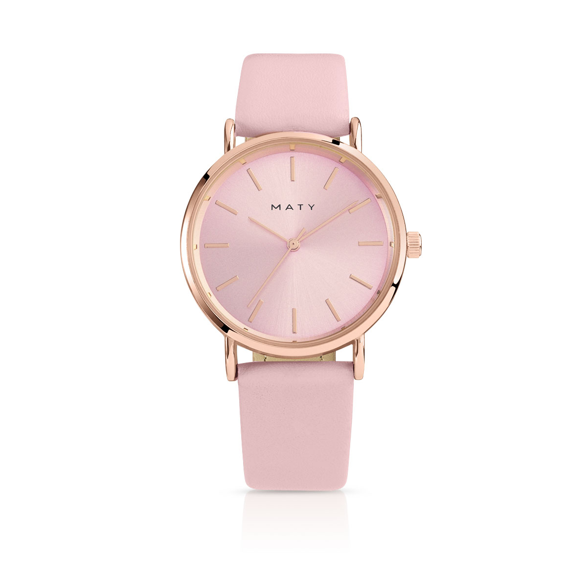 montre en or rose