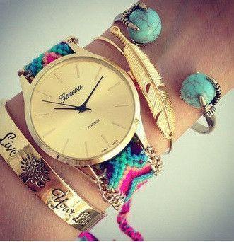 montre femme bracelet bresilien