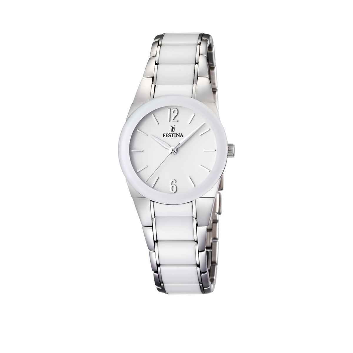 montre femme bracelet céramique blanc
