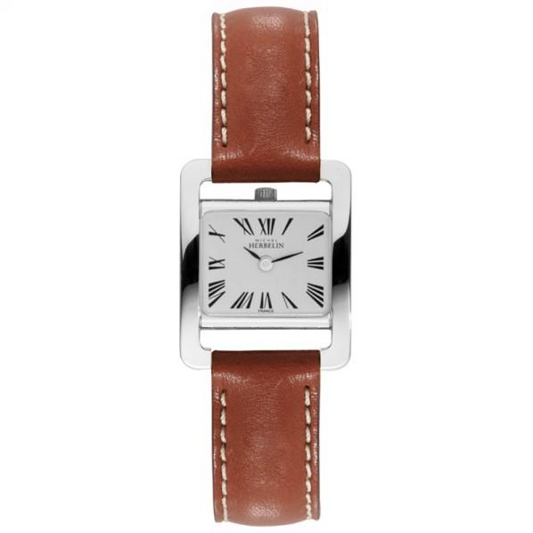 montre femme carrée bracelet cuir