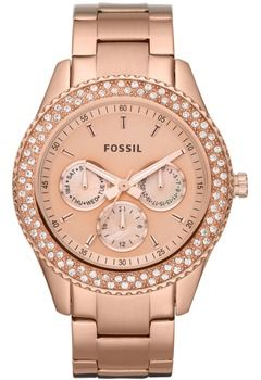 montre femme fossil or