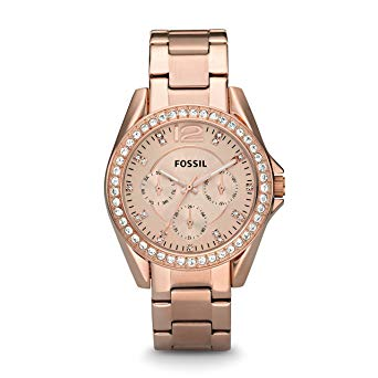 montre femme fossil rose