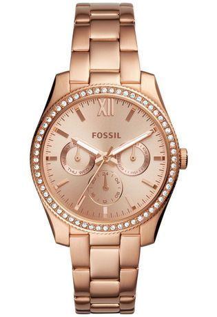 montre fossil doré rose