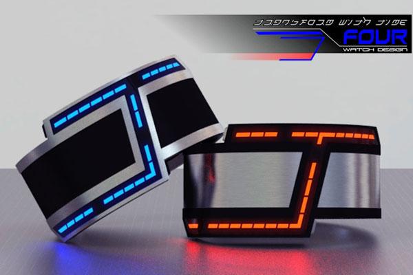 montre futuriste led