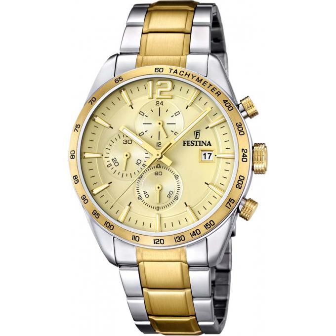 montre homme dorée