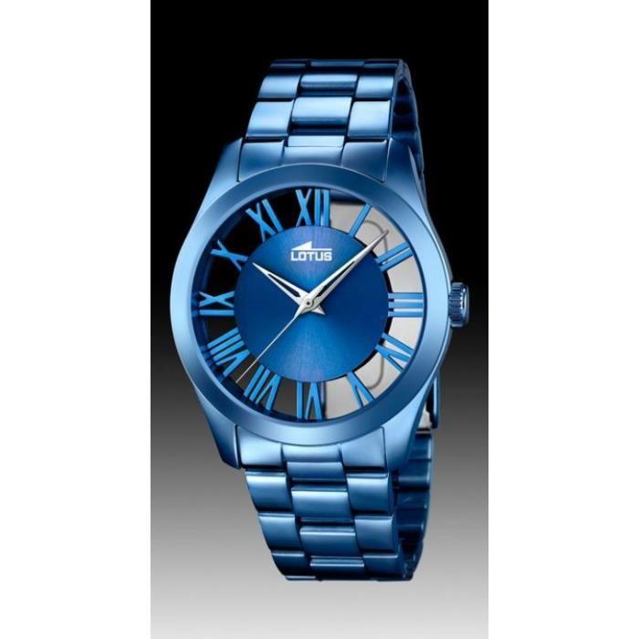 montre lotus femme bleu