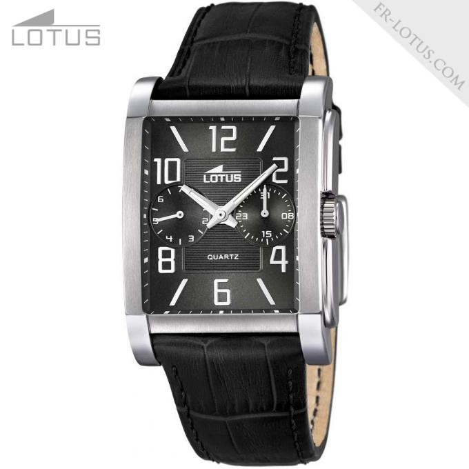 montre lotus rectangulaire