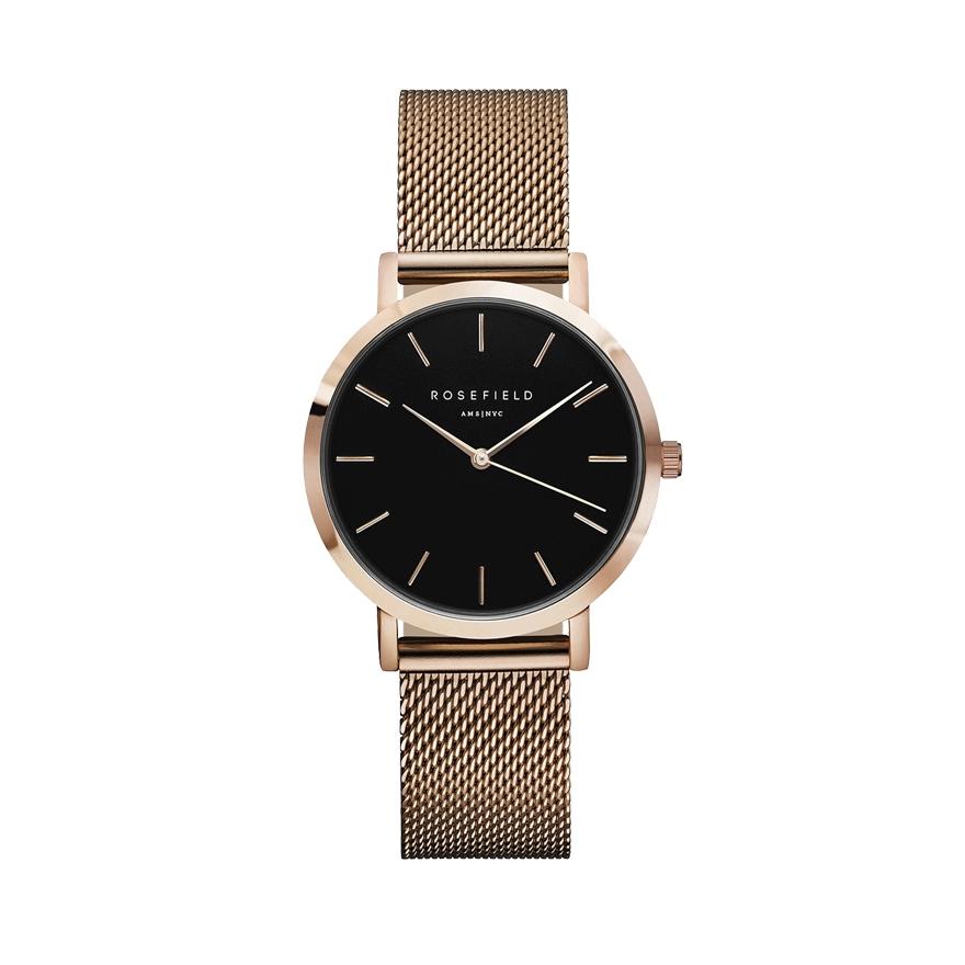 montre noir et doré femme