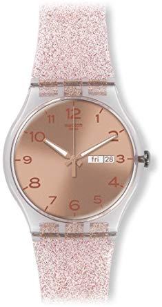 montre swatch femme rose