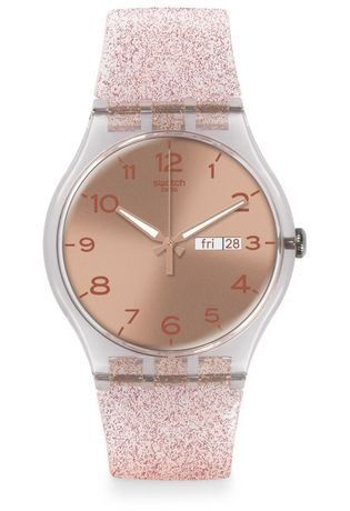 montre swatch rose
