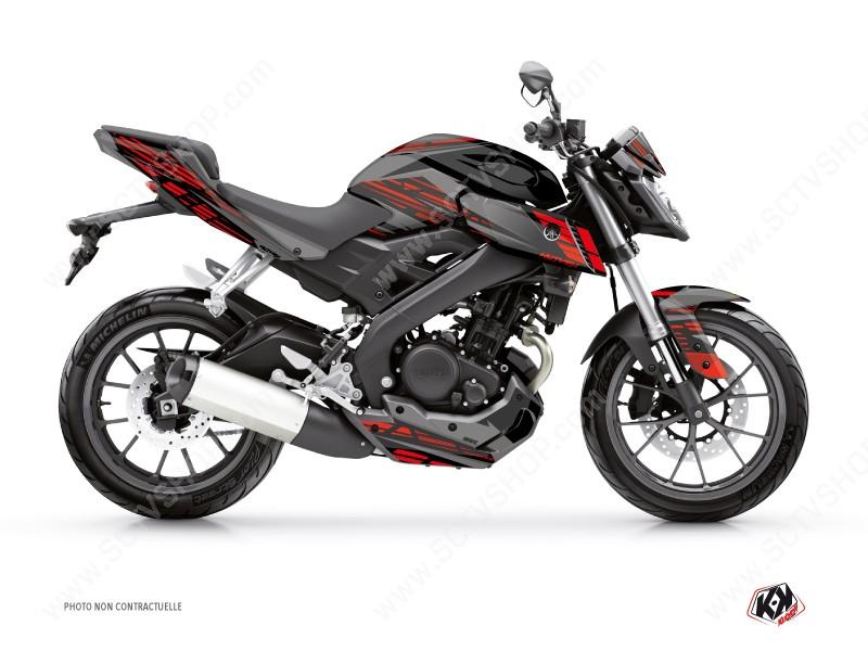moto noir et rouge
