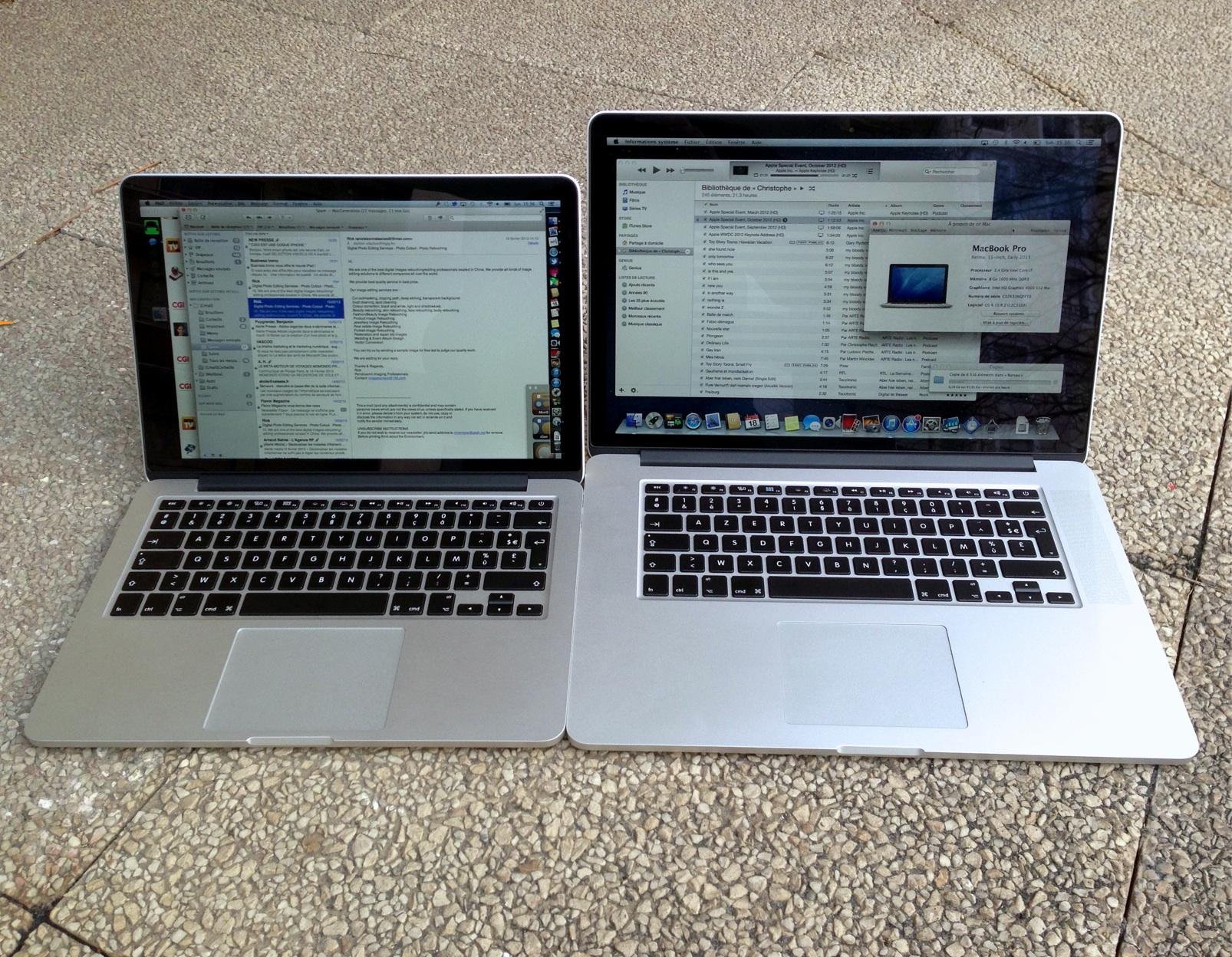 nouveau macbook pro retina