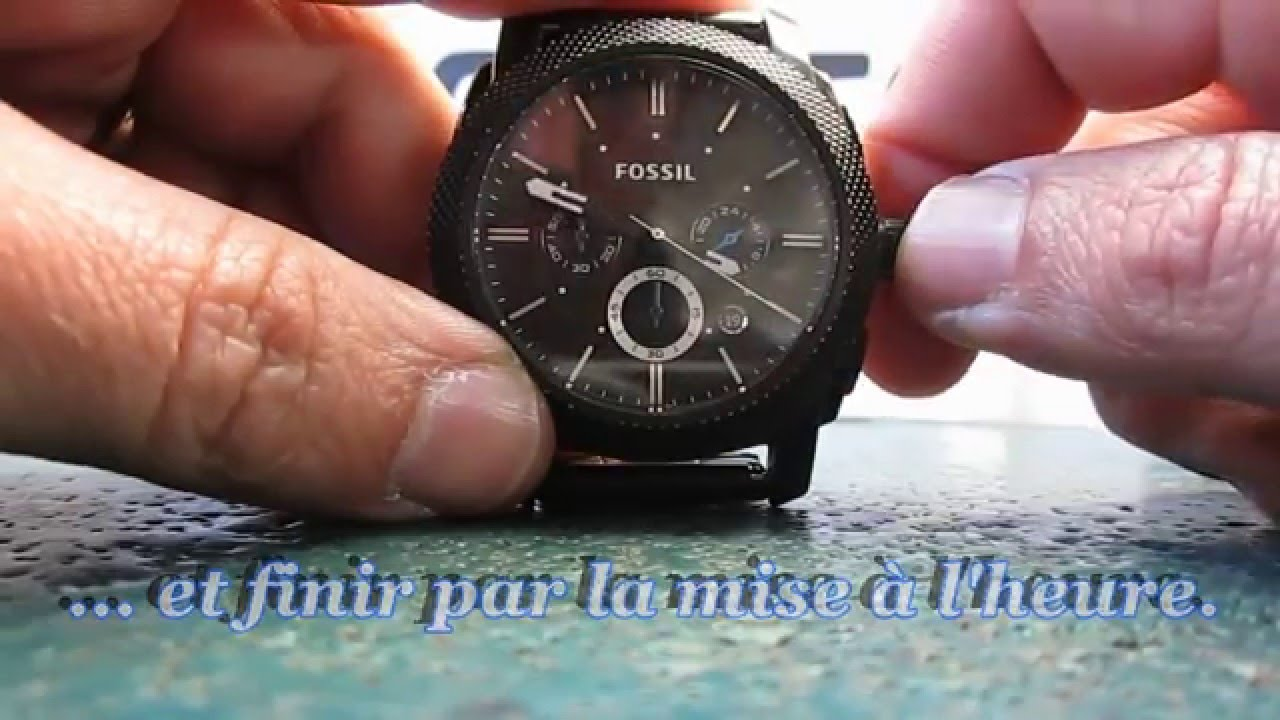 ouvrir montre fossil