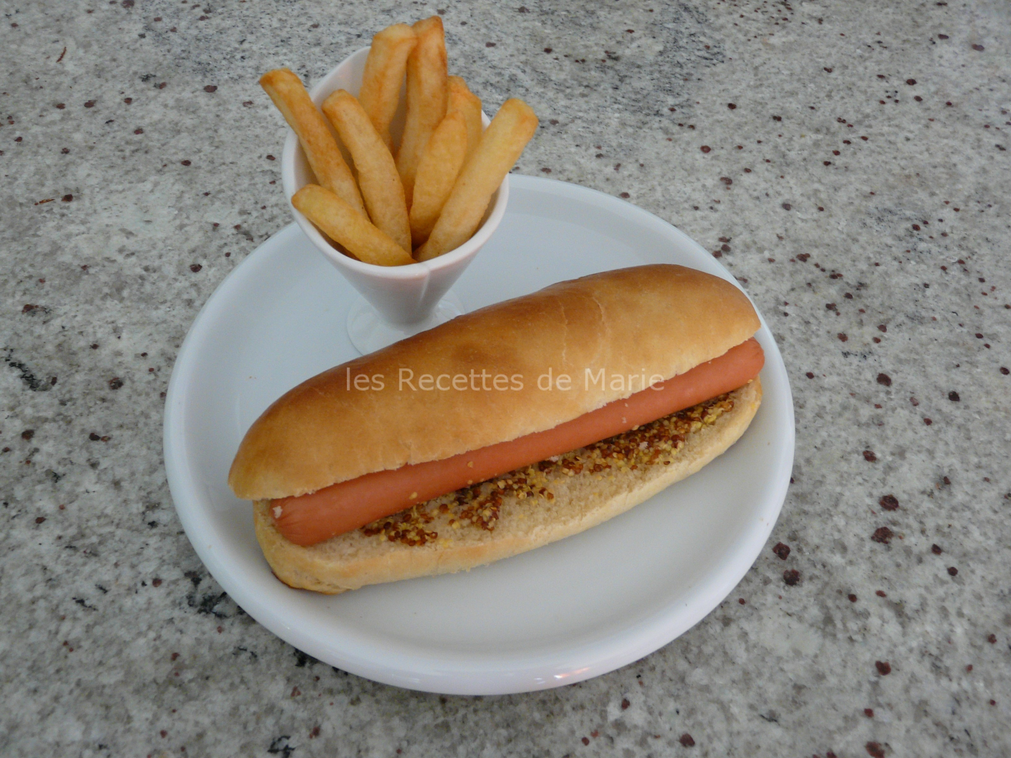 pain pour hot dog