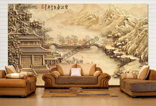 papier peint 3d 100 maison