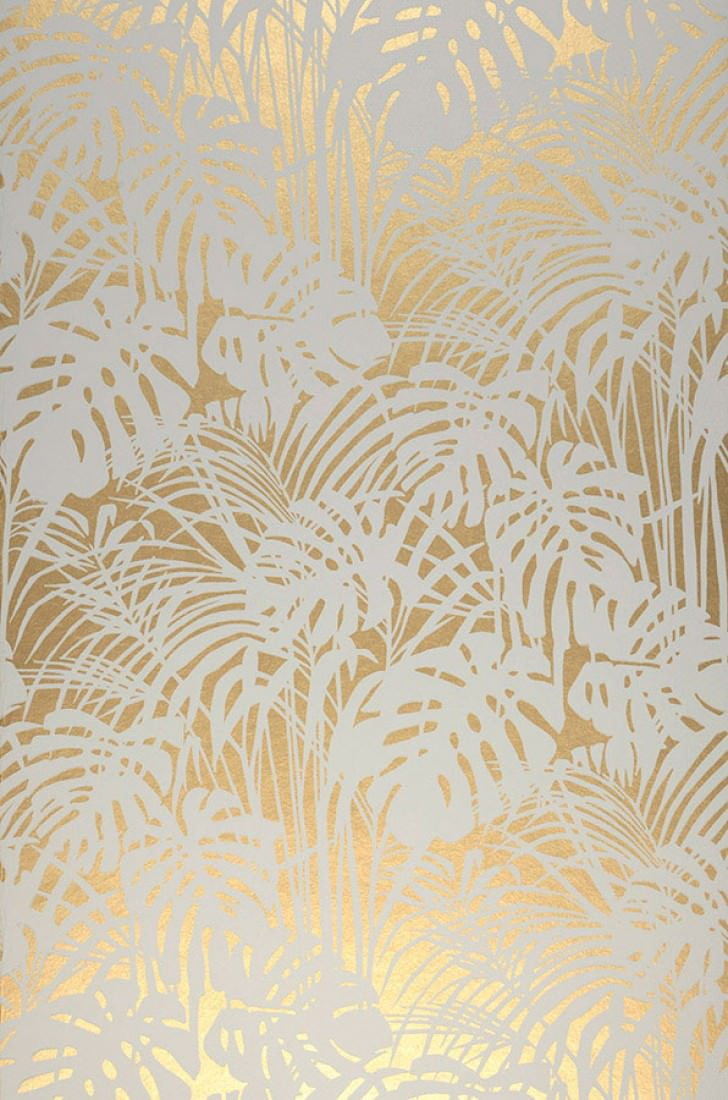 papier peint doré