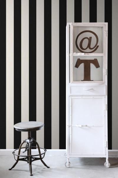 papier peint rayures noir et blanc