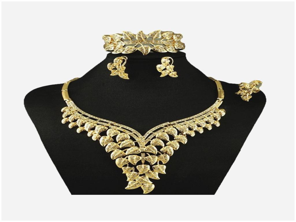 parure bijoux plaqué or pas cher