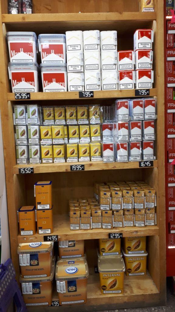 pas de la case cigarette prix