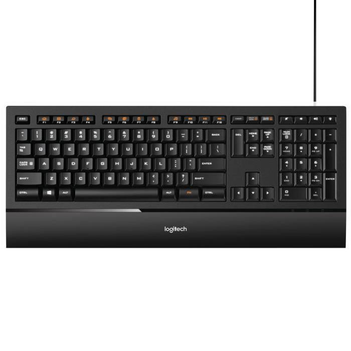 pc clavier rétro éclairé