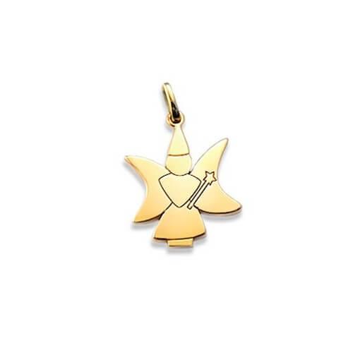 pendentif fée or