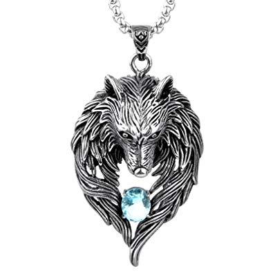 pendentif homme loup