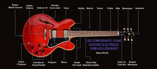 pieces detachees pour guitare electrique