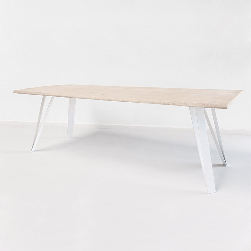 pied de table bois blanc