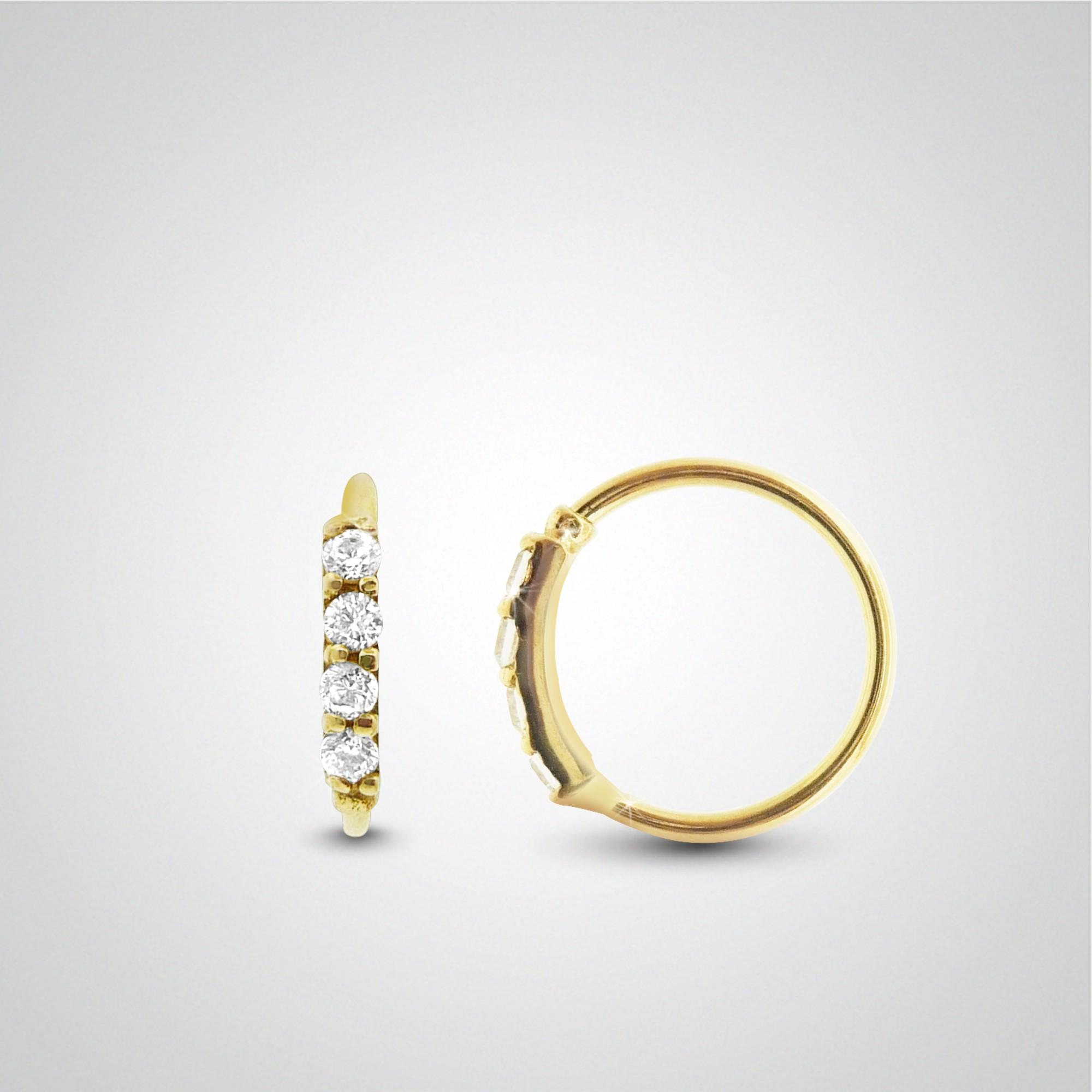piercing en or