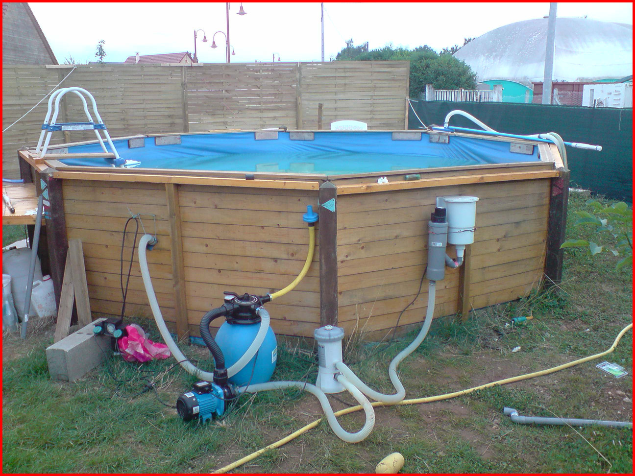 piscine hors sol avec pompe a sable