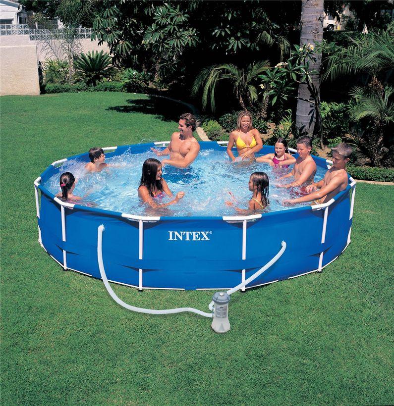 piscine intex metal frame