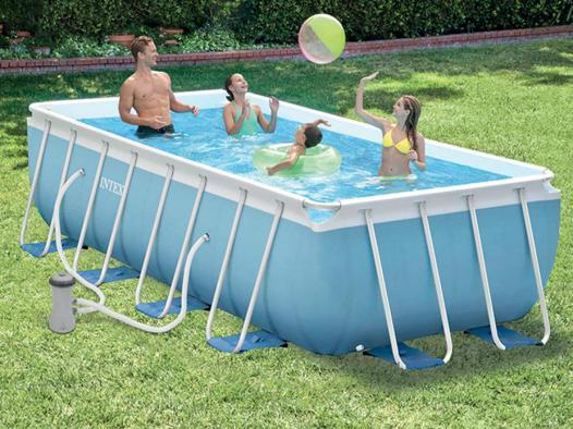 piscine rectangulaire intex tubulaire