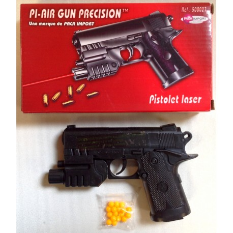 pistolet a bille avec laser