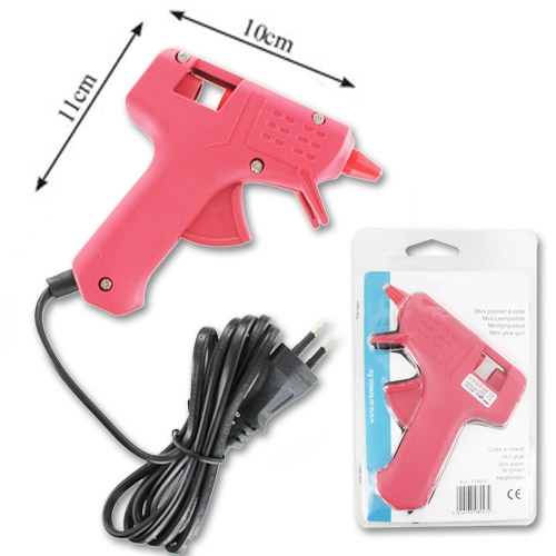 pistolet à colle rose