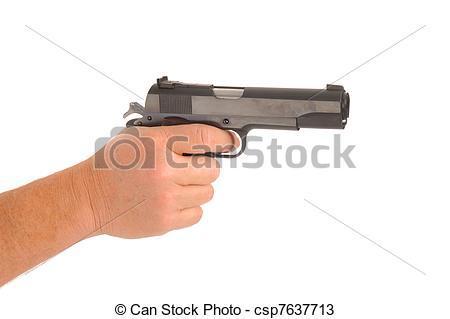 pistolet main