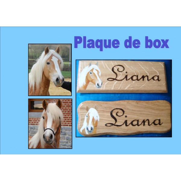 plaque de box personnalisée