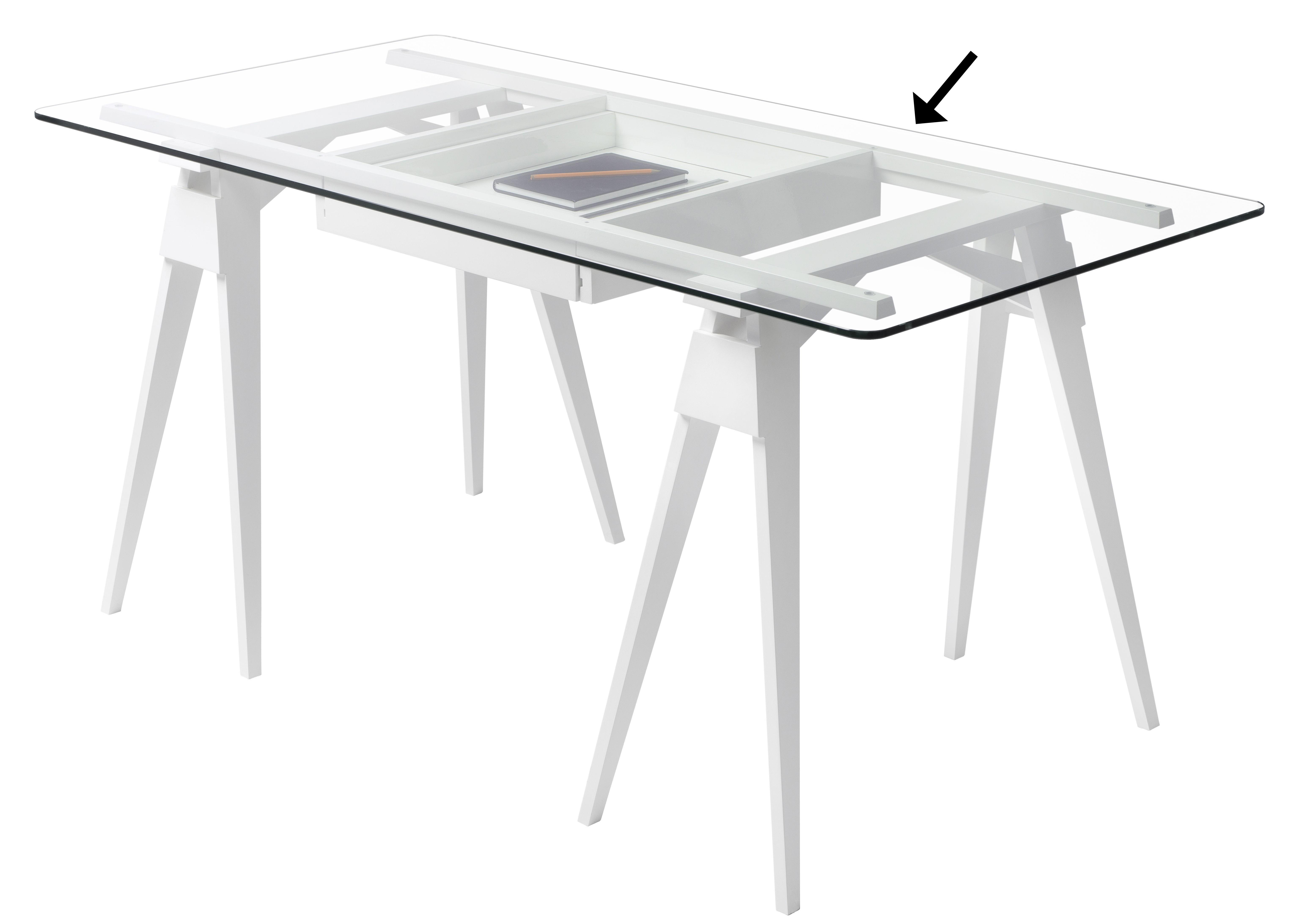 plateau en verre pour bureau