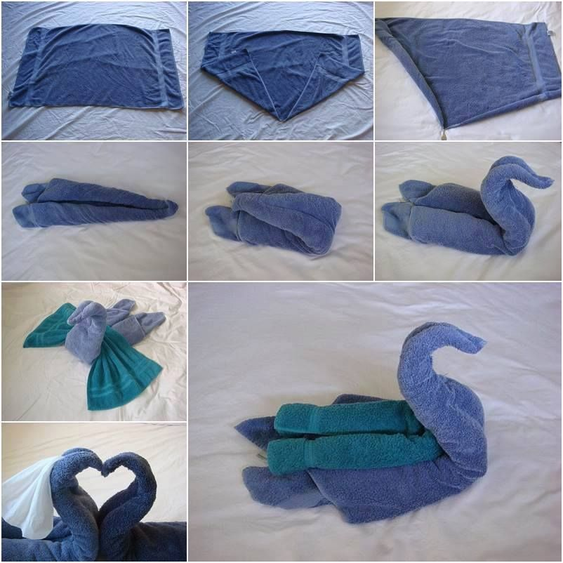 pliage de serviette de toilette
