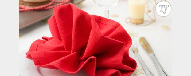 pliage de serviette pour le nouvel an