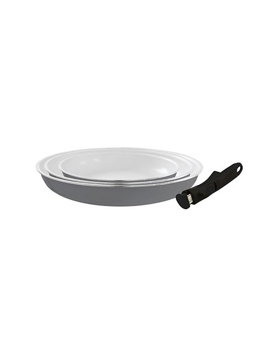 poele ceramique sans manche