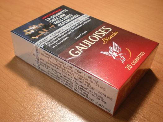 poids d'un paquet de cigarettes