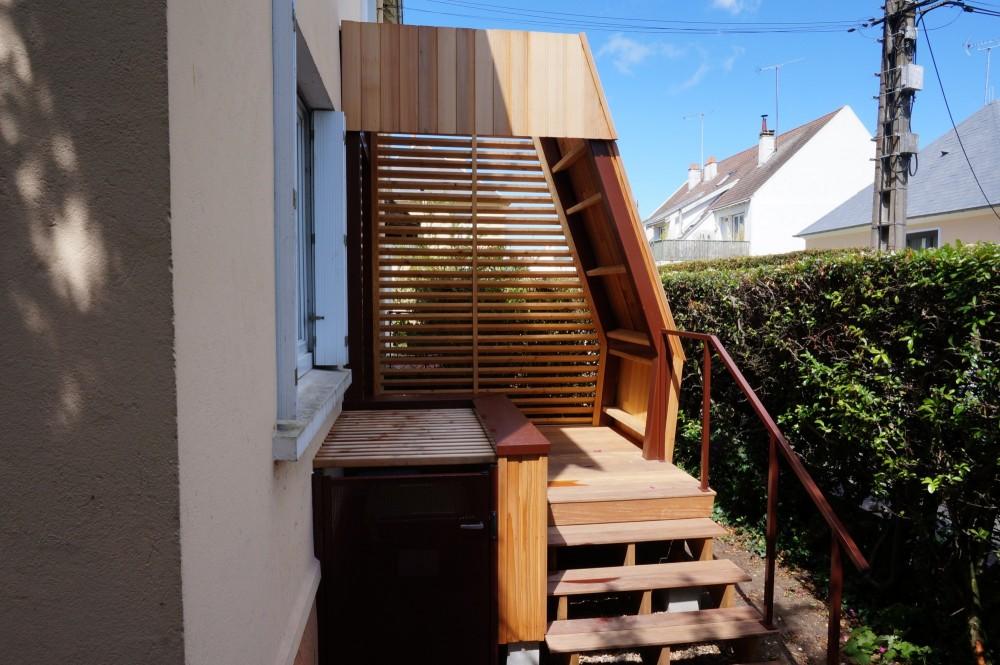porche d entrée en bois