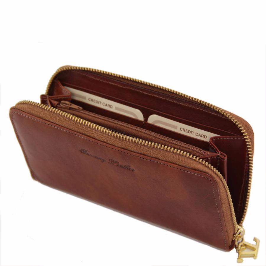 portefeuille marron femme