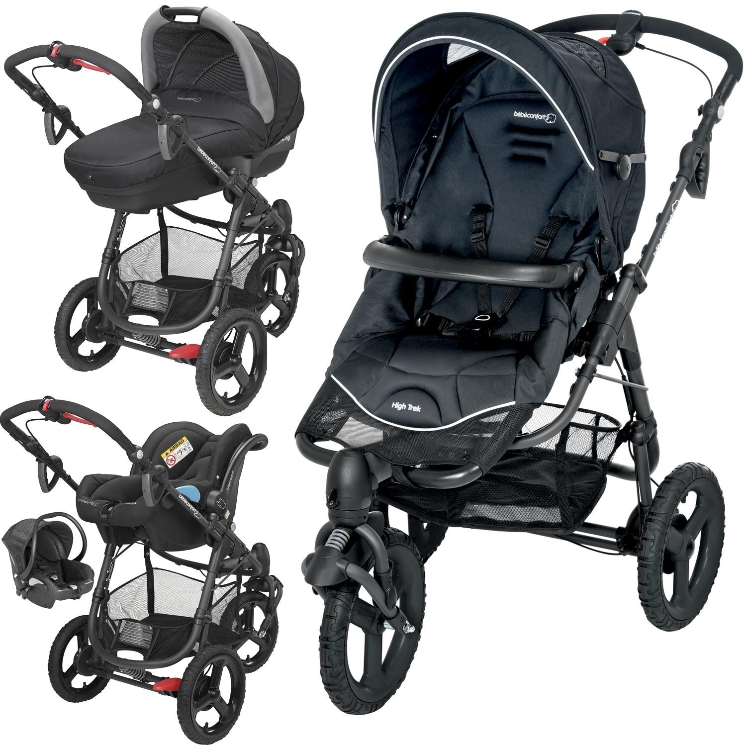 poussette high trek 3 en 1