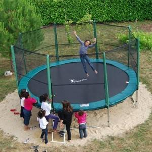 protection barre trampoline