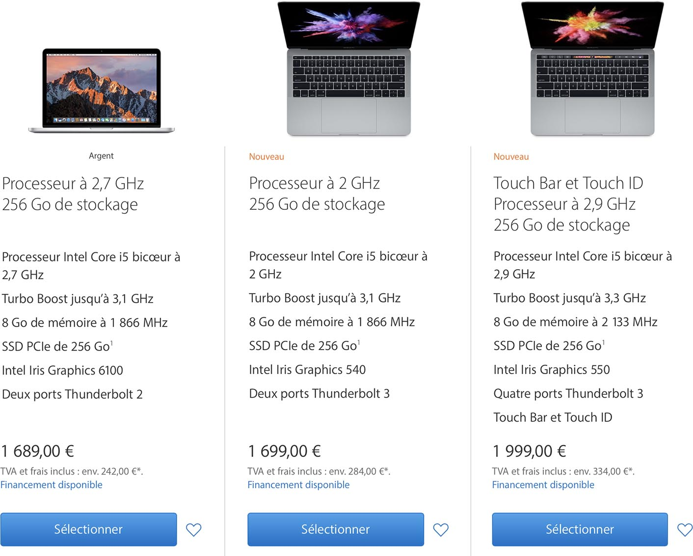 quel macbook choisir 2017